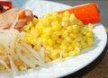 Sweet Corn kernels in Salad Royalty Free Stock Photo