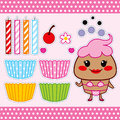 Sweet Cupcake Paper Doll Stock Images