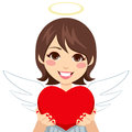 Sweet Cupid Angel Heart Royalty Free Stock Images