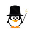 Sweet and cute penguin vector illustration Royalty Free Stock Photo