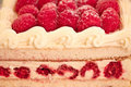 Sweet dessert: raspberry cheesecake Stock Photo