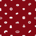 Sweet desserts pattern eps red Royalty Free Stock Image