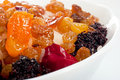 Sweet dish with rice and candied fruits Stock Photo