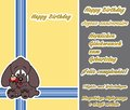 Sweet dogs that offer a little gift birthday greeting card Royalty Free Stock Images