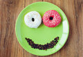 Sweet donut for a morning breakfast
