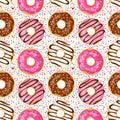 Sweet donuts seamless pattern