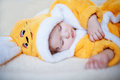 Sweet dream of the little girl Royalty Free Stock Photography