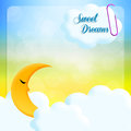 Sweet dreams illustration of moon in the sky Stock Images