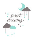 Sweet dreams lettering Royalty Free Stock Photo