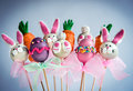 Sweet Easter cake pops Royalty Free Stock Photo
