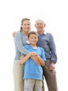 Sweet family standing together Royalty Free Stock Images