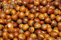 Sweet and fragrant   cooked chestnuts Royalty Free Stock Image