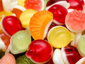 Sweet fruit jelly background close up Stock Photo