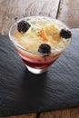 Sweet fruit triffle dessert Royalty Free Stock Photo