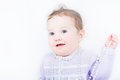 Sweet girl with a pearl necklace Royalty Free Stock Photo