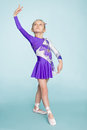 Sweet girl seven years dancing Royalty Free Stock Photo