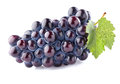 Sweet grape with leaf in closeup Royalty Free Stock Photos