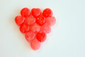 Sweet heart red and pink candy Stock Image
