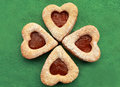 Sweet hearts the cookie close to Royalty Free Stock Photo