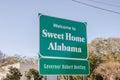 Sweet Home Alabama Sign Royalty Free Stock Photo