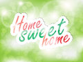 Sweet home background sticker green with space for text Royalty Free Stock Images