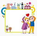 Sweet home frame cartoon vector illustration Stock Photography