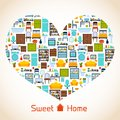 Sweet home heart concept Royalty Free Stock Photo