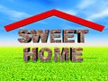 Sweet home illustration of generated by computer Stock Photography