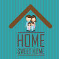 Sweet home over blue background vector illustration Stock Image