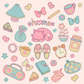 Sweet Home set of vector design kids elements Royalty Free Stock Photo