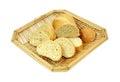 Sweet Honey Cornbread in Basket Stock Photos