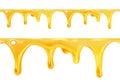 Sweet honey drips seamless vector background Stock Photos