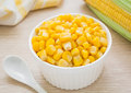 Sweet kernel corn in bowl Royalty Free Stock Photo