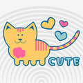 Sweet kitty illustration of a lovely Royalty Free Stock Images