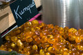 Sweet kumquat in confectionary shop. Stock Images