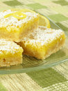 Sweet Lemon Bars Royalty Free Stock Images