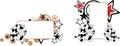 Sweet little baby cow cartoon copyspace Royalty Free Stock Photo