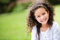 Sweet little girl outdoors Royalty Free Stock Images