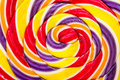 Sweet lollipop abstract twisted candy close up Royalty Free Stock Photo