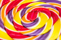 Sweet lollipop abstract twisted candy close up Royalty Free Stock Photos