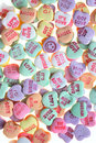 Sweet love messages candy  Stock Photo