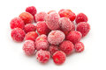 Sweet, luscious frozen strawberries Royalty Free Stock Image