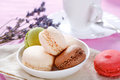 Sweet macaroon in a bowl food Stock Photography