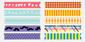 Sweet maskingtape collection masking tape love mom and dad Stock Image