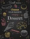 Sweet menu Dessert