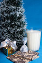 Sweet,milk,croissants,souvenir,tree of Christmas Stock Photo