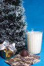 Sweet,milk,croissants,souvenir,tree of Christmas Stock Image