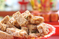 Sweet nutty snack in chinese style wedding ceremony Stock Photography