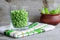Sweet organic green peas Royalty Free Stock Photo