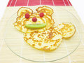 Sweet pancake animal face Royalty Free Stock Images